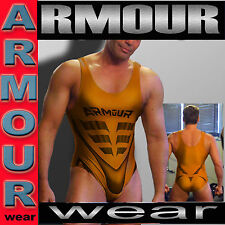 ARMOUR WEAR LYCRA SPANDEX GYMNASTICS TRI WORKOUT COMPRESSION SINGLET COPPER MED