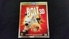 Bolt 3D Blu ray+DVD+Digital New W/Slipcover,Disney