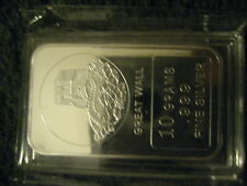 Very Beautiful .999 fine Famous Places: Great Wall of China Silver Art Bar New