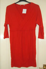 A  LOVELY  WOMENS 3/4 SLEEVE RED DRESS  UK SIZE 14