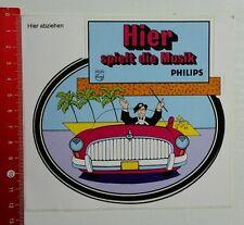 Aufkleber/Sticker: Philips - Hier spielt die Musik (290316106)