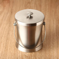 Pub Ice Bucket Stainless Steel Cubes Barrel Container Beer Wine Cooler Alcohol