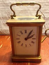 Antique Brass and Glass Carriage Clock circa 1870-1880 ~ Free Shipping!!!