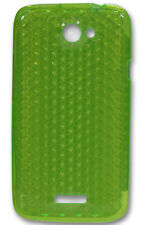 New Design HTC One X Silicone Gel Diamond Case - Green