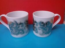 2 x Paperchase Mugs Stunning Metallic Detail - Fine Porcelain - Perfect