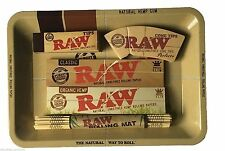 Raw Mini Tray, Papers, Tips, Mat Smoking Set Deal a Perfect Gift for loved ones