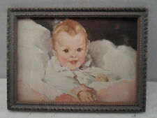 Art Deco picture frame, 5 by 7 inches, print of  a Happy Baby,  # 839
