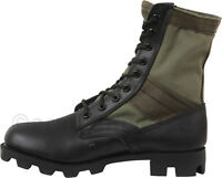 "Olive Drab & Black Jungle Boots Military 8"" Tactical Boots"