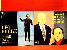 Lot 2 ALBUMS VINYLES - LÉO FERRÉ - LES CHANSONS D'ARAGON CHANTÉES PAR LÉO FERRÉ