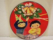 "JAPAN/JAPANESE Christmas 9""/78 rpm PICTURE DISC Record Silent Night/Jingle Bells"