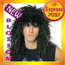A65 Mens Adult Rock Star 80s Wig Fancy Dress Party Costume Accessory