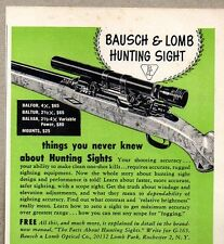 1954 Print Ad Bausch & Lomb Hunting Sights Rifle Scopes Rochester,NY
