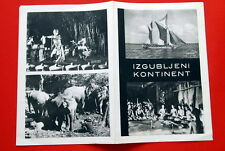 LOST CONTINENT ITALIAN CONTINENTE PERDUTO 1955 RARE EXYU MOVIE MOVIE PROGRAM