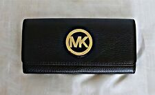 Michael Kors- Fulton Flap Continental Leather Wallet - Black