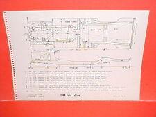 1963 1964 FORD FALCON FUTURA CONVERTIBLE COUPE RANCHERO FRAME DIMENSION CHART
