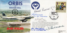 ORBIS at Biggin Hill Air Fair Signed  5, 1 VC holder and 4 WW11 pilots etc