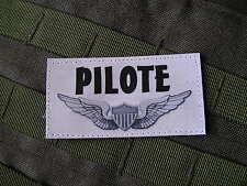 Patch Velcro - BREVET PILOTE - pour blouson & combinaison vol AIR ULM HELICO US