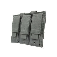 VISM 3 Pocket Gray Pistol MOLLE Mag Pouch For GLOCK 17 22 20 34 35 17L 24 40 31