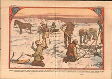Ice Fishing Fish Greenland Pêche Poissons Groenland Glaces 1933 ILLUSTRATION
