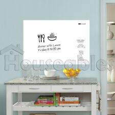 White Board Dry Erase Removable Vinyl Wall Sticker Decal Whiteboard 109 X 85cm