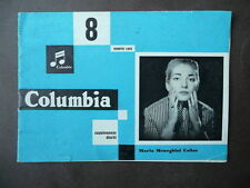 Lirica Opera Callas Catalogo Columbia 1955 Fotografia Copertina Nuovo Disco