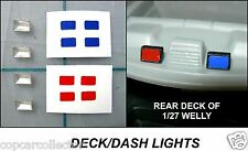 1/43 - 1/24 Deck / Dash Lights For Model Police Cars SINGLE LENS CH1522