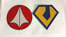 "Robotech Macross Anime  Logo 3.5"" Embroidered Patch Set of 2-FREE S&H(RTMA-SET2)"
