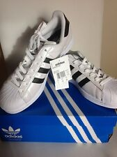 ADIDAS SUPERSTAR SHOES MENS BNIB UK10 1/2 US11 EUR 45 1/3 LEATHER WITH TAGS