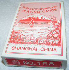 vintage Shanghai, China ROSES No 158 highgloss WATER PROOF FINISH playing cards