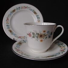 Royal Doulton Pastorale Trio - Tea Cup, Saucer & Side Plate - VGC!