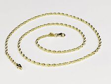 "10kt SOLID Gold Diamond Cut ROPE Pendant Chain/Necklace 22"" 2mm 4 grams 014R"