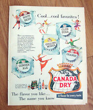1955 Canada Dry Soda Pop Drink Ad  Cool Cool Favorites