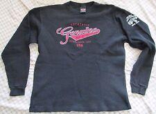 Harley Davidson Premont Quebec Established 1903 Long Sleeve Shirt Black Size M
