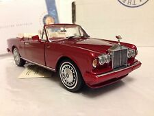 1/24 Franklin Mint 1992 Rolls Royce Corniche Ruby Red B11E018 LE 500 of 2,500