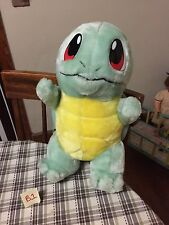 "1998 Squirtle 16"" Play By Play Plush Doll Nintendo Pokemon GUC"
