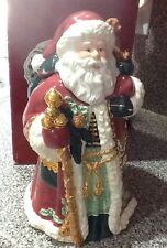 Vintage Charter Club Federated Stores Christmas Cookie Jar Santa & Toy Sack