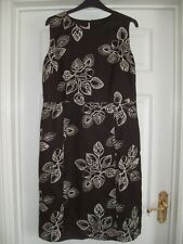GORGEOUS MONSOON BROWN & WHITE EMBROIDERED PARTY DRESS 14