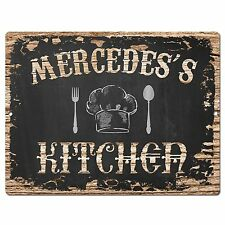 PP2825 MERCEDES'S KITCHEN Plate Chic Sign Home Room Kitchen Decor Birthday Gift