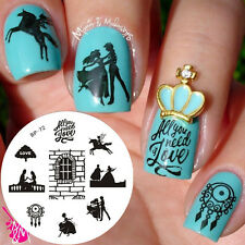 Nagel Schablone BORN PRETTY Nail Art Stamp Stamping Template Plates BP72