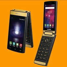 "Philips Xenium V800 13MP Dual SIM Standby 3.7"" 4G LTE 3G Android Flip Smartphone"