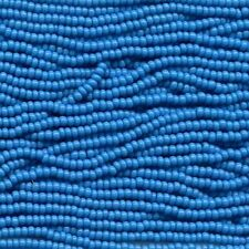 Czech Seed Beads 6/0 Opaque Turquoise 31730 (6 strand hank) Glass Round 4mm