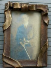 Beautiful 19th century picture frame with photo of man with violin