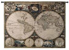 53x38 OLD WORLD MAP Globe Geography Tapestry Wall Hanging