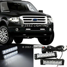 Hi-Power White 12 LED Emergency Hazard Flash Warning Beacon Strobe Light Bar C09