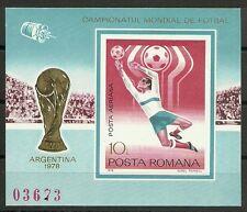 FUSSBALL-WM 1978/ Rumänien MiNr Block 150 **