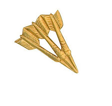9ct Yellow Gold Darts Stick Pin Made To Order in Jewellery Quarter B'ham