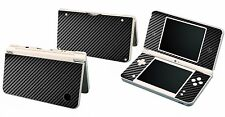 Black Carbon Fiber Vinyl Decal Cover Skin Sticker for Nintendo DSi NDSi XL LL