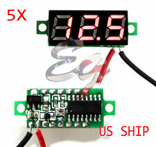 5X Mini Red DC 0-30V LED Display Digital Voltage Voltmeter Panel For Breadboard