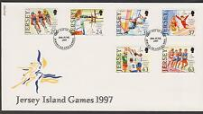 GB - JERSEY 1997 7th Jersey Island Games SG 818/23 FDC ATHLETICS CYCLING SPORTS