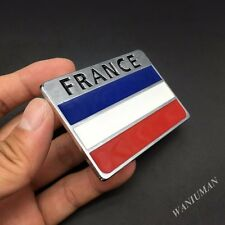 Metal France French Flag Emblem Car Auto Badge Decal Sticker For Renault Peugeot